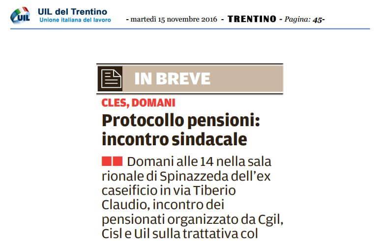 Protocollo pensioni IMM