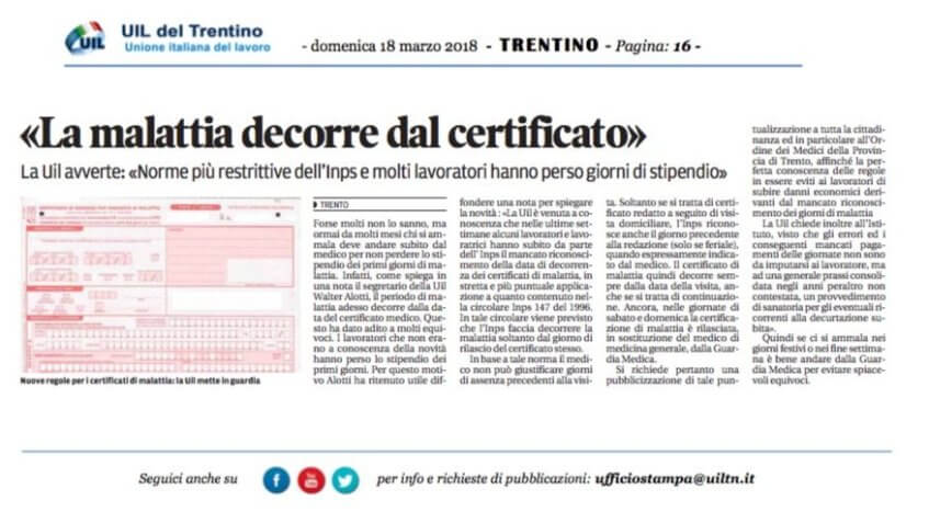 certificato inps